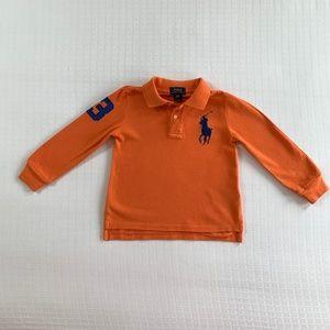 Polo Ralph Lauren Orange Long-Sleeve Polo 3T